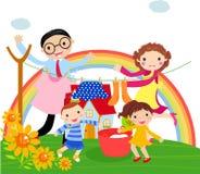 Familienzeit lizenzfreie abbildung