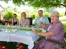 Familiepartij Stock Foto's