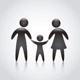 Familiepictogram stock illustratie