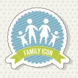 Familiepictogram royalty-vrije illustratie