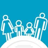 Familiepictogram met plaats voor tekst Stock Foto's