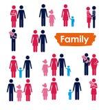 Familiepictogrammen Stock Foto