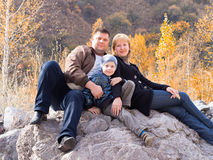 Familieportret stock fotografie