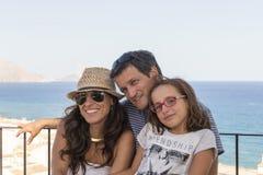 Familieportret op de zomervakantie Royalty-vrije Stock Foto