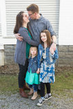 Familieportretten Stock Fotografie