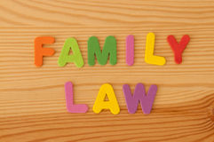 Familierecht Royalty-vrije Stock Afbeelding