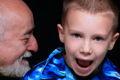 Grandson and Grandfather Stock Photo
