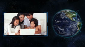 Families around the world stock footage
