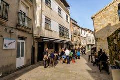 Families in Baiona - Galicië - Spanje royalty-vrije stock afbeeldingen