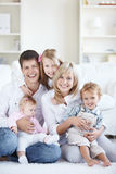 Families with children Stock Image