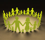Families Circle. Happy families forming a circle of unity royalty free illustration