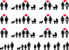 Families stock illustration