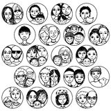 Families, couples, friends, siblings, singles... multicultural, multiethnic, mixed & patchwork Stock Image