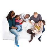 Families en vrienden Stock Afbeeldingen