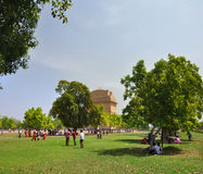 Families Enjoying Spring in The Park, Delhi India. Royalty Free Stock Photos