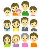 Families Royalty Free Stock Images