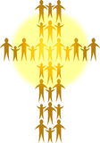 Families Form A Golden Cross/ai Royalty Free Stock Photography