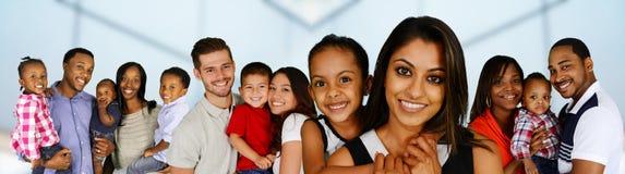 Families royalty free stock photos