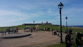 Families on pasadie at ElMorro Royalty Free Stock Photo