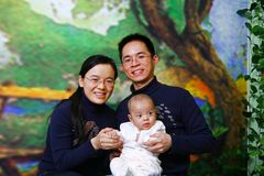 Families portraits Royalty Free Stock Images