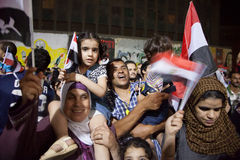 The Families sharing Egyptian revolution Royalty Free Stock Photo