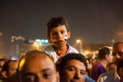 Families sharing Egyptian revolution Royalty Free Stock Images