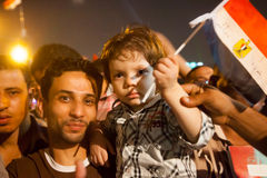 Families sharing Egyptian revolution Stock Images