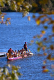 Families Take Canoe Trip At Fall Festival Royalty Free Stock Photo