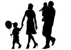 Families with two children Royalty Free Stock Photos