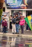 Families Waiting For The President Rafael Correa Royalty Free Stock Photo