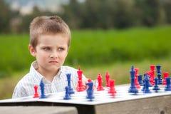 Familieschaak Stock Foto