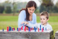 Familieschaak Stock Afbeeldingen