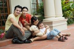 Familietijdverdrijf Stock Foto