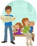 Familievakantie Stock Afbeeldingen