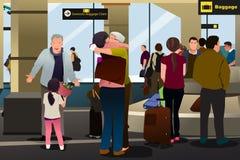 Familievergadering bij de Luchthaven Royalty-vrije Stock Foto