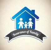Familieverzekering Stock Fotografie
