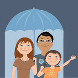 Familieverzekering royalty-vrije illustratie