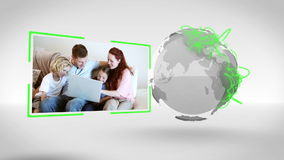 Familievideo's met de hoffelijkheid van het Aardebeeld van NASA org stock video