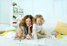 Familieweekend Stock Foto's