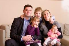 familiy纵向 免版税库存图片