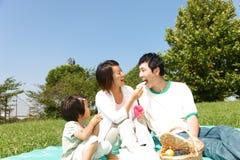 Familiy野餐 图库摄影
