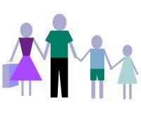 familiy покупка Стоковые Фотографии RF