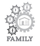 Familiy design Royalty Free Stock Images