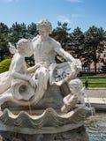 Familiy gjorde ut ur marmor, Wien, Österrike Arkivbilder