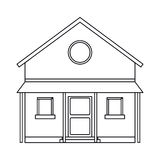 Familiy house countryside outline. Vector illustration eps 10 Stock Photos