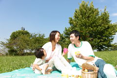 Familiy Picnic Stock Images
