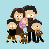 familj 2 Arkivbild