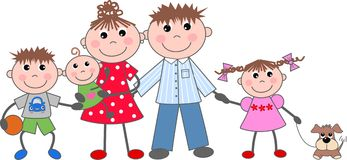 Familj royaltyfri illustrationer