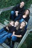 Familj av fem Arkivbilder