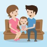 familj cartoon Royaltyfri Foto